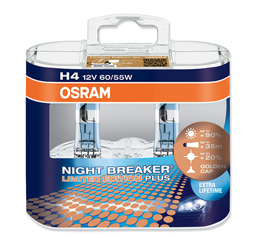 h4 osram night breaker plus limited edition bulbs 64193nbl. Black Bedroom Furniture Sets. Home Design Ideas
