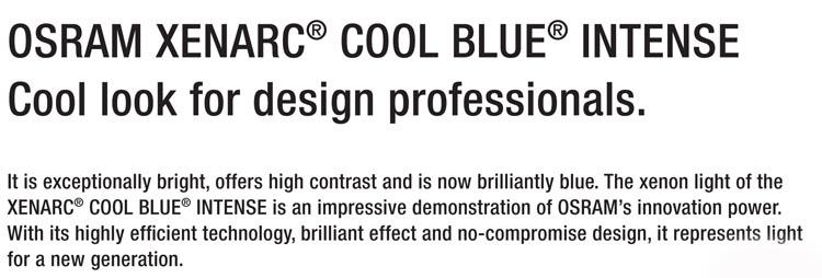 W220 Coupe C215) 98- OSRAM D2R COOL BLUE INTENSE XENARC HID XENON BULB